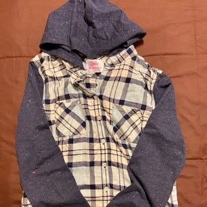 Justice Flannel Hooded Shirt